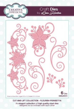 Lisa Horton - Cut and Lift Collection Flourish Poinsettia Craft Die